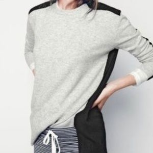 J. Crew Color Block Hi Low Sweater Tunic Wool XSm